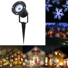 Projector Lights For Christmas by White Snowflake Led Stage Lights Waterproof Projector Lamps