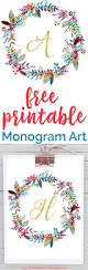 Monogram Letters Home Decor by Beautiful Free Printable Monogram Art For Your Home These Would Be