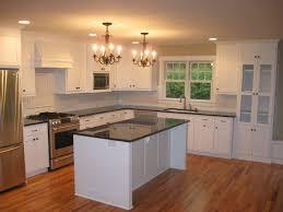 kitchen lovely white shaker kitchen cabinets dark wood floors