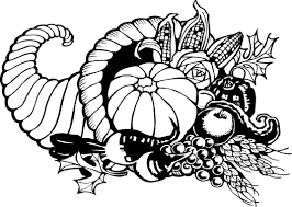 pix for thanksgiving feast clipart black and white clip