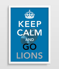 detroit lions keep calm football print man cave home