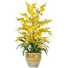 Silk Flower Depot - yellow artificial plants u0026 flowers home accents the home depot