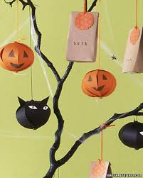 decorated halloween trees indoor halloween decorations martha stewart