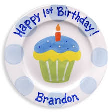 personalized plate 1st birthday cupcake personalized plate boy rosenberryrooms
