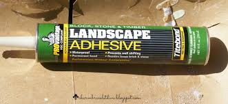landscape block adhesive our hopeful home how to build your own fire pit for less than 75