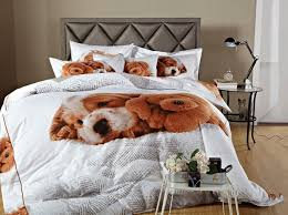 Bed In A Bag Duvet Cover Sets by Doggies 3d Puppy Dog Print Bedding Dm488 By Dolce Mela Cotton