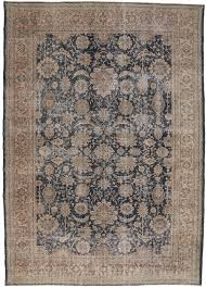 distressed vintage turkish sivas area rug with industrial