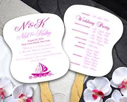 wedding fans programs wedding program fans w design sided printing