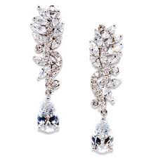 cubic zirconia earrings modern vintage cubic zirconia earring