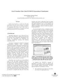 Overhead Calculation Spreadsheet Excel Visualizer One Click Wysiwyg Spreadsheet Visualization Pdf