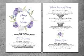 fan wedding program template 25 wedding program templates free psd ai eps format