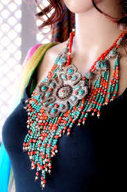 tibetan necklace images Large tibetan tribal jewelry necklace from nepal JPG