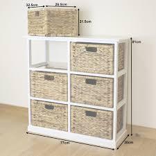 White Bedroom Drawer Units White 6 Drawer Basket Storage Side Unit Lounge Bathroom Nursery