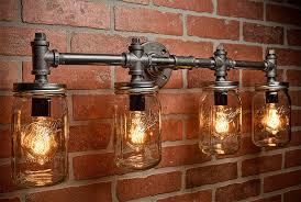 Industrial Chandelier Lighting Industrial Lighting Lighting Mason Jar Light Steampunk