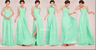 mint green bridesmaid dress aliexpress buy mixed styles pleated mint green bridesmaid