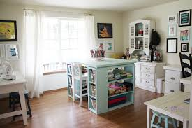 Small Craft Desk White Modern Craft Table Aqua Diy Projects