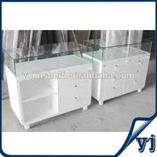 lockable glass display cabinet showcase high quality modern design frameless white wooden glass jewelry