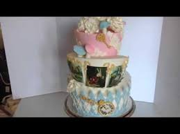 alice in wonderland birthday cake youtube