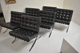 fourteen signed barcelona chairs by ludwig mies van der rohe for