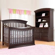 bedroom decorative curtain design with baby crib with attached