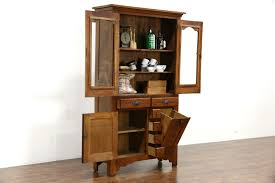 sold victorian eastlake 1895 antique oak pantry cabinet kitchen