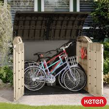 lifetime horizontal storage shed with simple storage for bike and