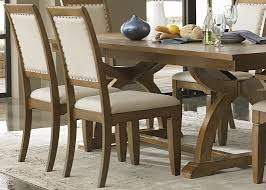 Trestle Dining Room Table by Trestle Dining Table With Solids Rubberwood Distressed Sandstone