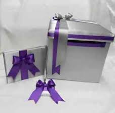 purple guest book wedding accessory reception silver grey purple guest book pen set