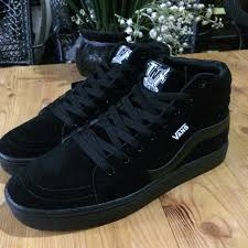 Jual Vans Tnt vans tnt all black s fashion footwear on carousell