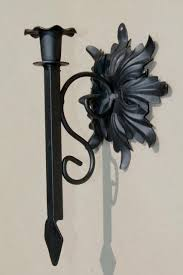 black iron candle sconces ornamental key vintage wall