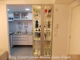 Basta Construindo Minha Casa Clean: 35 Cristaleiras Lindas na Decoração! #SH85