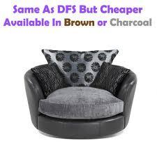 Cheap Swivel Armchairs Uk Swivel Chair Fabric Leather Sofa Like Dfs But Cheaper Black Or