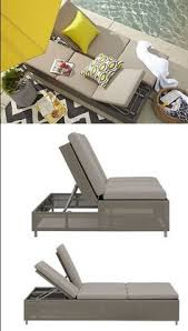Double Chaise Sofa Lounge Tanning Chair Chaise Lounge Patio Beach Fold Pool Sun Tan Ladies