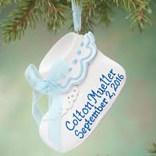 baby bootie ornament personalized baby bootie ornament christmas ornament kimball