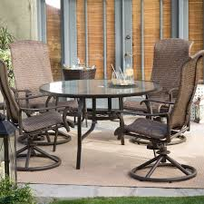 Bar Height Patio Dining Set by Belham Living Charter All Weather Wicker Swivel Rocker Set Of 2