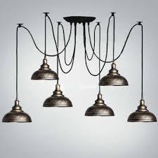 fashion style 6 pendant lights multi light pendants industrial