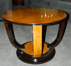two tone art deco round table sold items small tables art deco