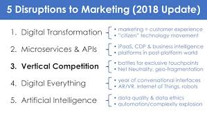 5 disruptions to marketing part 3 vertical competition 2018