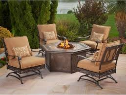 Patio Furniture With Fire Pit Set - furniture comfortable outdoor furniture design with cozy walmart