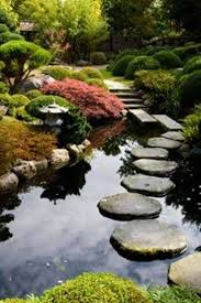 japanese garden with pond and stepping stones japanese garden
