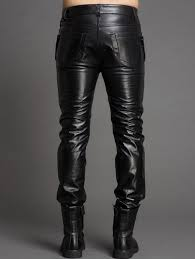 Cowhide Pants Original Design 2015 New Style Genuine Leather Pants Metal Buttons