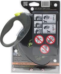 flexi giant retractable tape dog leash black large chewy com