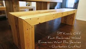 DIY Knock Off Faux Reclaimed Wood Emmerson West Elm Dining Room - Diy west elm emmerson dining table