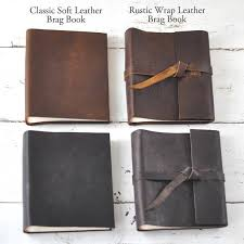 4x6 photo book leather brag book 4x6 personalized leather mini album by