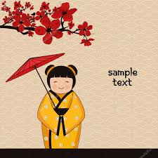 japanese style background with japanese girl stock vector japanese style background with japanese girl stock vector 7222937