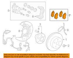 lexus rx for sale birmingham al lexus toyota oem 2016 rx350 brake front pads 044650e040 ebay