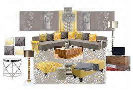 Grey And Yellow Living Room Grey And Yellow Living Room Decorating Clear