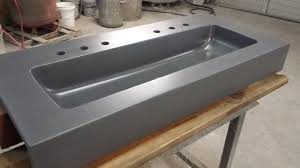 vanities with integral sink concrete vanity trough sinks