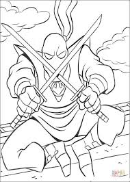 foot clan coloring free printable coloring pages