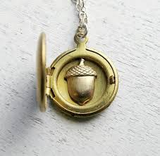 personalized locket necklace personalized locket with acorn inside tollefsen